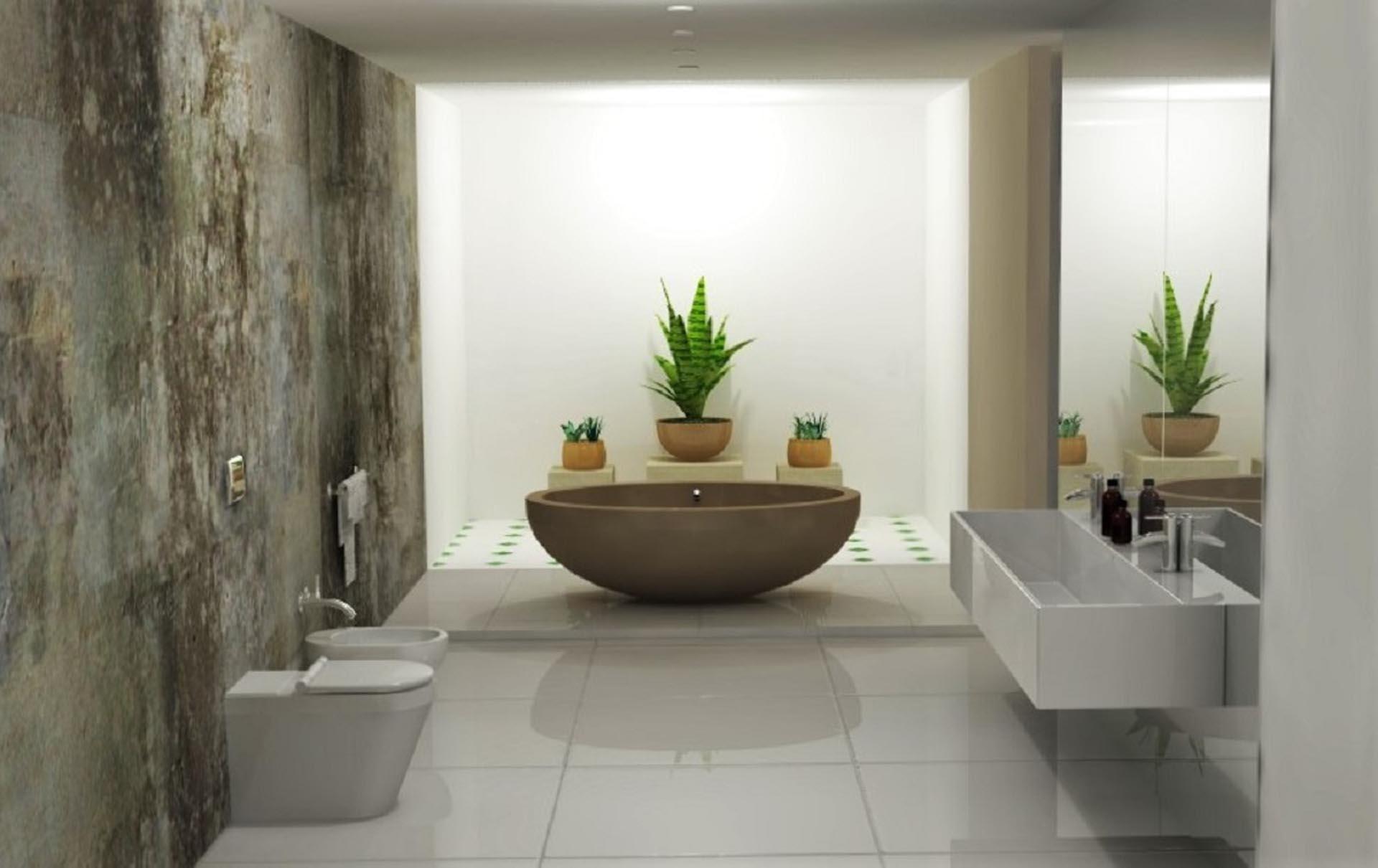 Stone Bathroom by Sketch & Render image