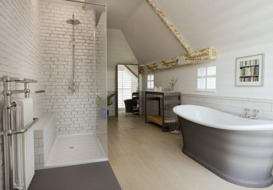 ArtiCAD White Brick Bathroom