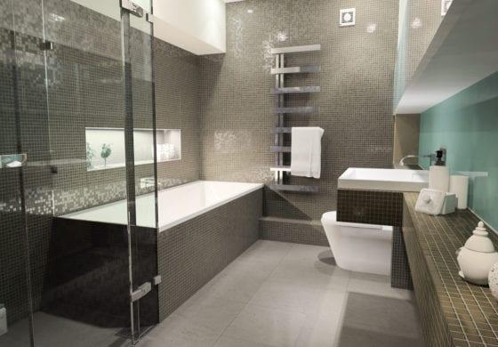 ArtiCAD Dark Tiled Bathroom