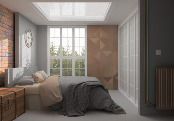 ArtiCAD Grey & Copper Bedroom
