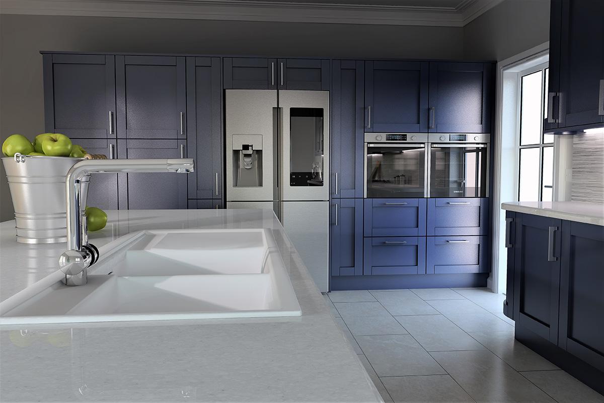 ArtiCAD Blue Close Up Kitchen
