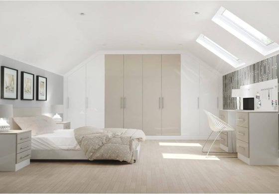 ArtiCAD White & Champagne Bedroom render