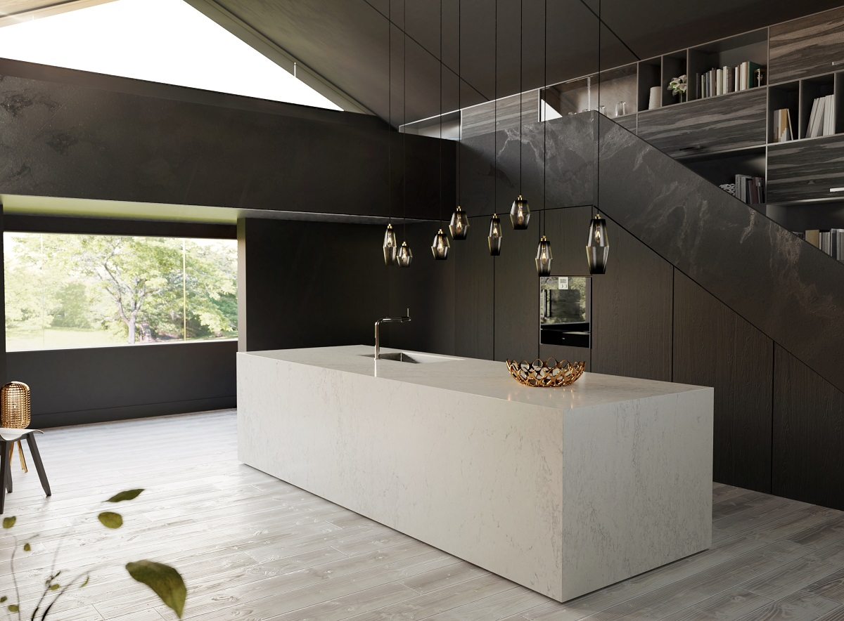 CGI light & dark kitchen