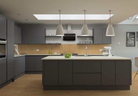 ArtiCAD Dark Grey Kitchen