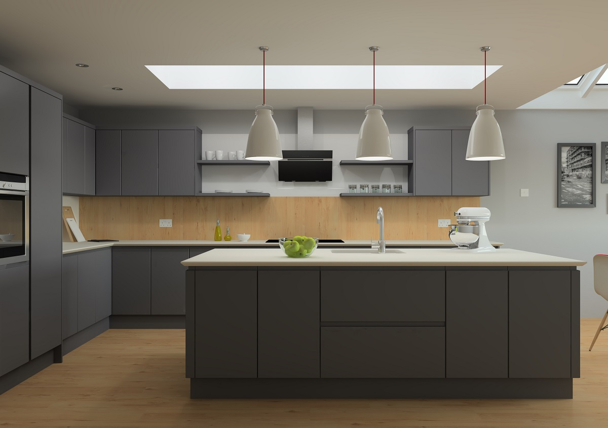 ArtiCAD Dark Grey Kitchen