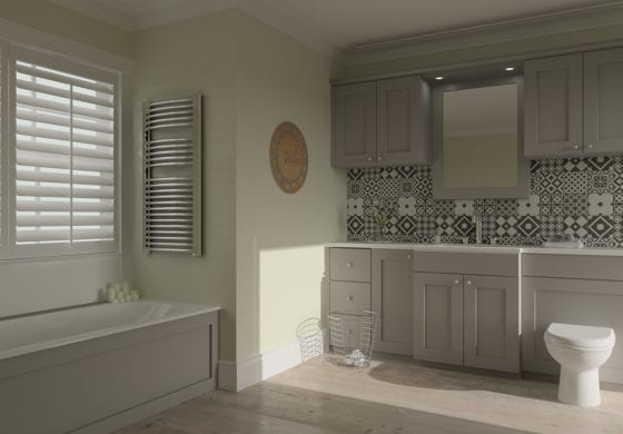 ArtiCAD Grey Tiled Bathroom