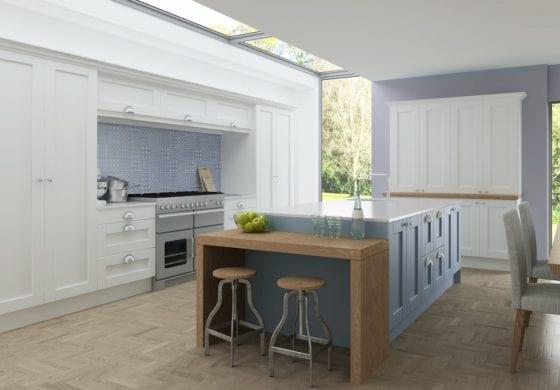 ArtiCAD Light Blue and White Kitchen