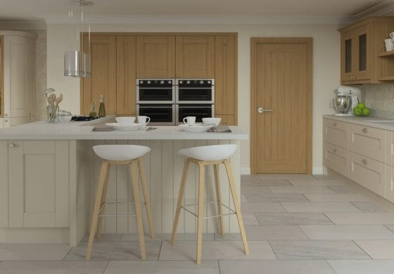 ArtiCAD Painted Cashmere and Wooden Kitchen