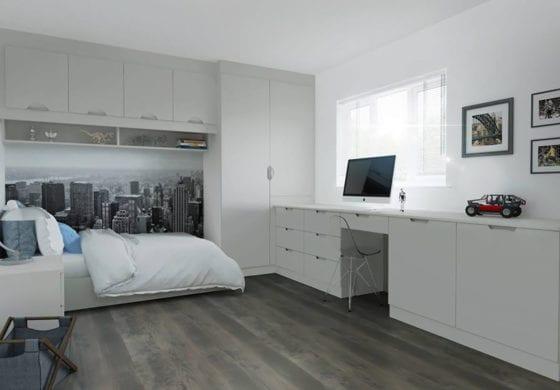 ArtiCAD Light Grey Bedroom render