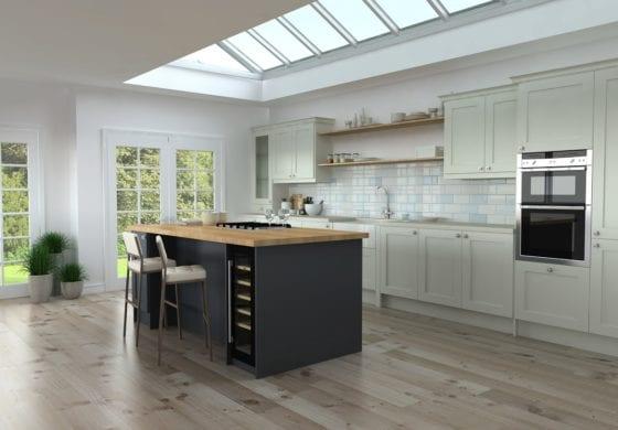 ArtiCAD Dark Blue and Cashmere Kitchen
