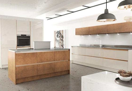 ArtiCAD White and Copper Kitchen