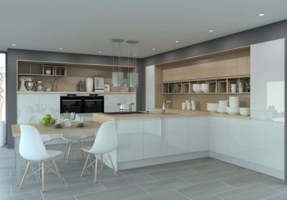 ArtiCAD Gloss White Kitchen