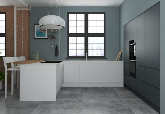 ArtiCAD White and Grey Kitchen
