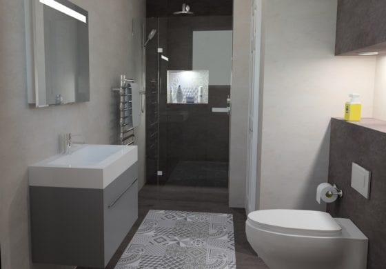 ArtiCAD Functional Ensuite by Surrey Bathroom Studio