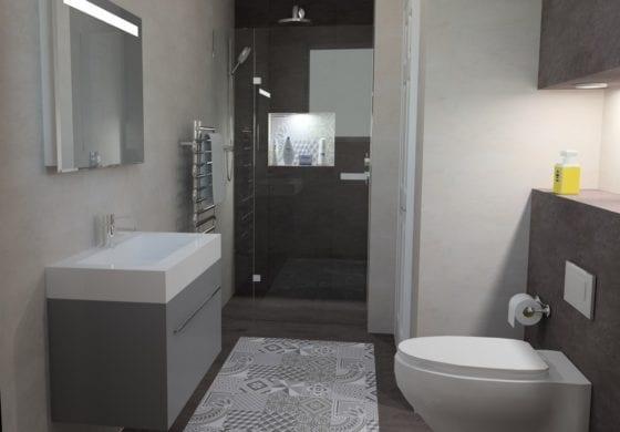 ArtiCAD Functional Ensuite by Surrey Bathroom Studio
