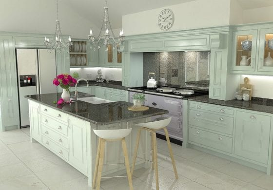 ArtiCAD Handpainted In-frame Kitchen by Hiddleston Joiners