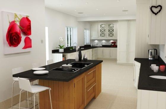 ArtiCAD render Harvey Jones Rose kitchen