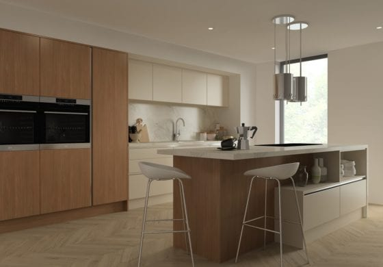 ArtiCAD Cashmere and Wooden Kitchen