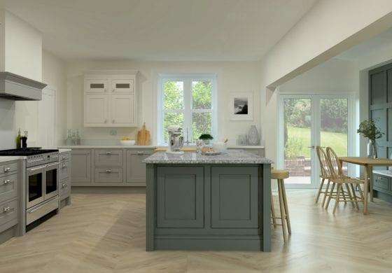 ArtiCAD Light Grey and Slate Kitchen
