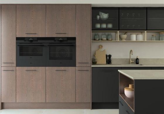 ArtiCAD Dark Grey and Wooden Kitchen