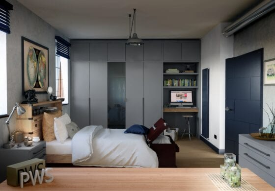 ArtiCAD Dark Grey Bedroom render