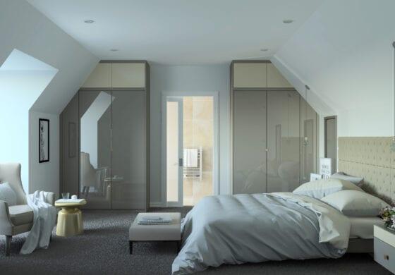 ArtiCAD Two Toned Bedroom render