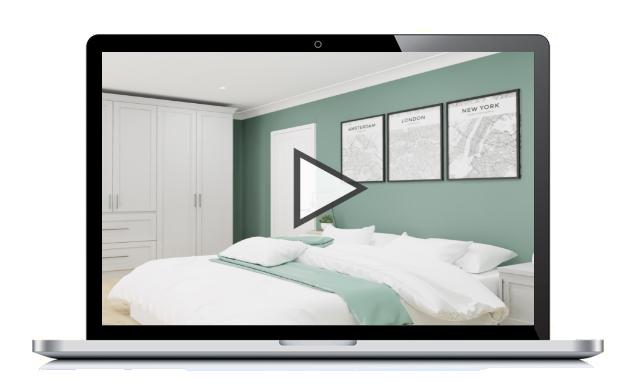 Bedroom ArtiVR on Laptop