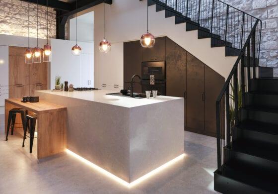 CGI lit kitchen