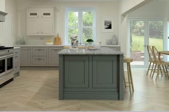 ArtiCAD Green kitchen render