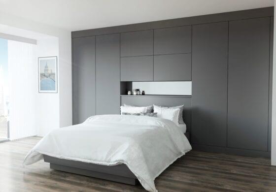 ArtiCAD Matte Grey Bedroom render