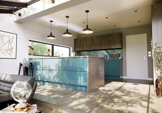 CGI Blue Kitchen