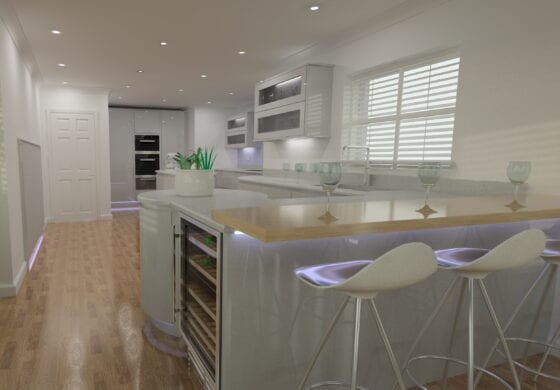 ArtiCAD Modern Handle less Bespoke Kitchen by Crown Wood Ltd