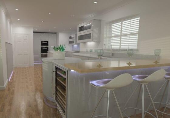 ArtiCAD Modern Handle less Bespoke Kitchen by Crown Wood Ltd