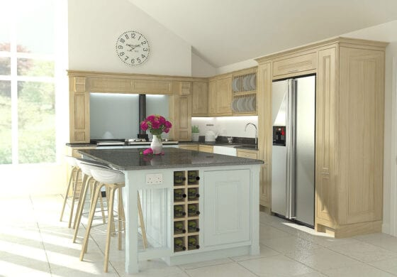 Traditional Handmade In-frame Kitchen by Hiddleston Joiners