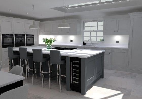 ArtiCAD Grey Shaker Kitchen by Lewis James