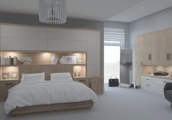 ArtiCAD White and Wood Bedroom