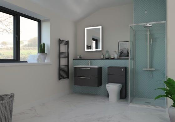ArtiCAD Gloss Graphite Bathroom