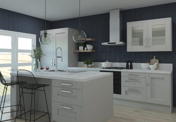 ArtiCAD-Pro Light Grey Kitchen