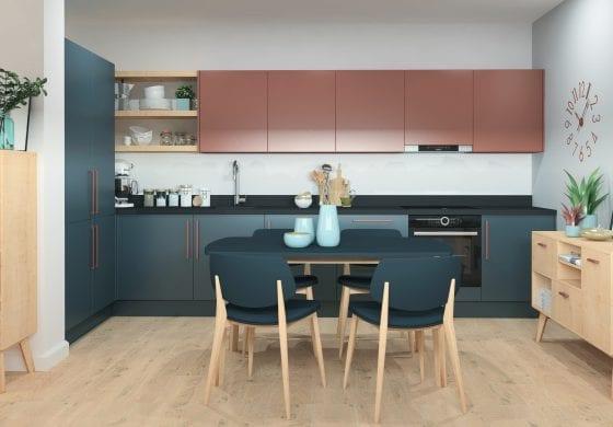 ArtiCAD Navy and Copper Kitchen